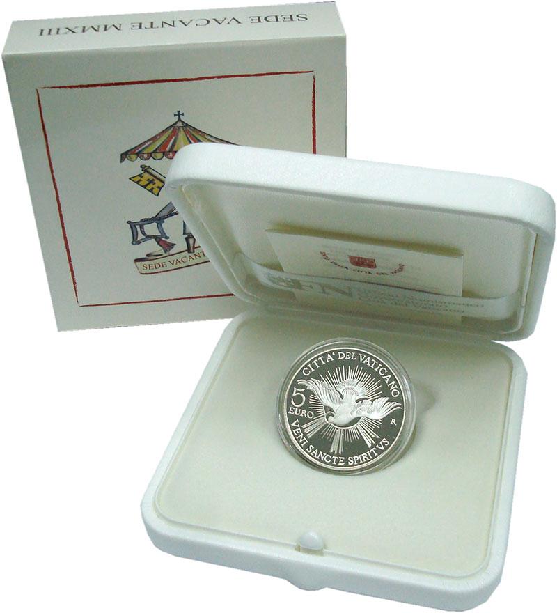 Изображение Подарочные монеты Европа Ватикан 5 евро 2013 Серебро Proof