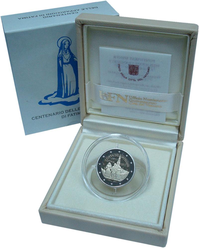 Изображение Подарочные монеты Европа Ватикан 2 евро 2017 Серебро Proof
