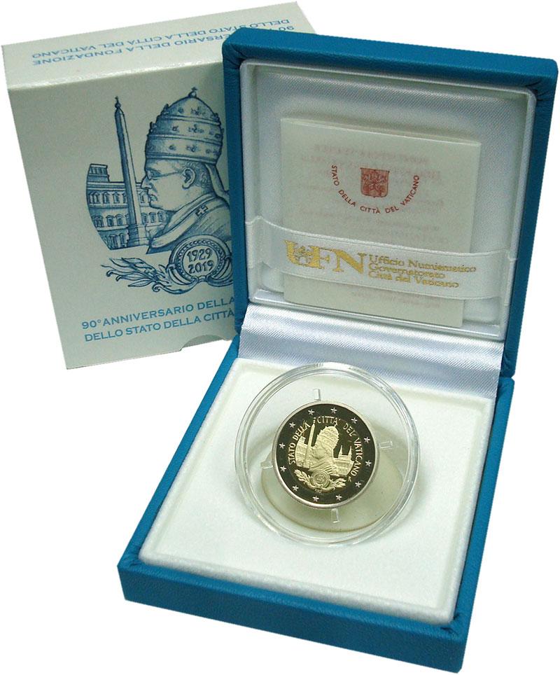 Изображение Подарочные монеты Европа Ватикан 2 евро 2019 Серебро Proof