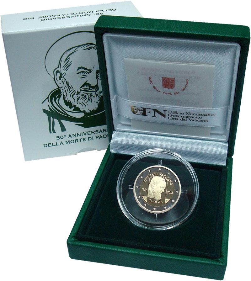 Изображение Подарочные монеты Европа Ватикан 2 евро 2018 Серебро Proof