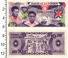 Изображение Банкноты Гана 10 седи 1984  UNC