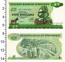Изображение Банкноты Зимбабве 5 долларов 1994  UNC