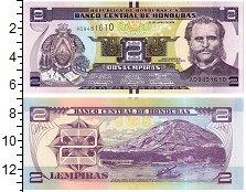 Изображение Банкноты Северная Америка Гондурас 2 лемпиры 2014  UNC