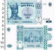 Изображение Банкноты Молдавия 5 лей 2009  UNC