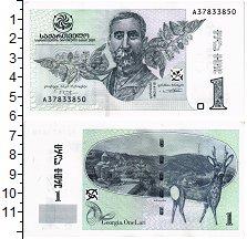 Изображение Банкноты СНГ Грузия 1 лари 2007  UNC