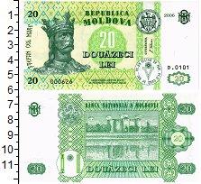 Изображение Банкноты Молдавия 20 лей 2006  UNC
