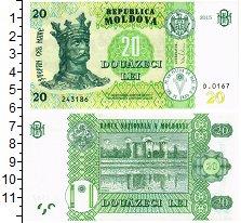 Изображение Банкноты Молдавия 20 лей 2015  UNC