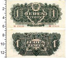 Изображение Банкноты Польша 1 злотый 1944  XF