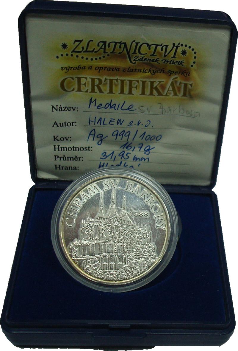 Изображение Подарочные монеты Чехия Медаль 0 Серебро Proof-