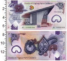 Изображение Банкноты Папуа-Новая Гвинея 5 кин 2010  UNC Парламент, герб.Изо