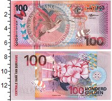 Продать Банкноты Суринам 100 гульденов 2000