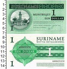 Изображение Банкноты Суринам 1 доллар 2004  UNC