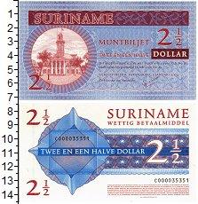 Изображение Банкноты Суринам 2 1/2 доллара 2004  UNC