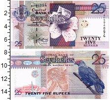Изображение Банкноты Сейшелы 25 рупий 0  UNC Гардения Райта и кры
