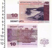 Изображение Банкноты Латвия 10 лат 2008  UNC
