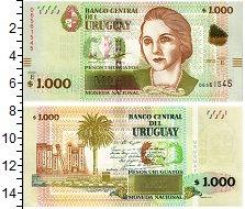 Изображение Банкноты Уругвай 1000 песо 2015  UNC