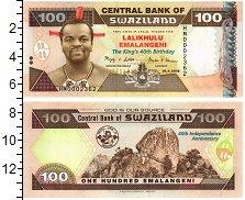 Изображение Банкноты Свазиленд 100 эмалангени 2008  UNC