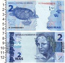 Изображение Банкноты Бразилия 2 реала 2010  UNC