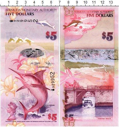 Изображение Банкноты Бермудские острова 5 долларов 2009  UNC