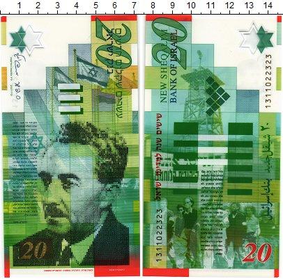 Изображение Банкноты Израиль 20 шекелей 2008  UNC