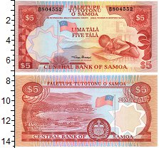 Изображение Банкноты Самоа 5 тала 0  UNC