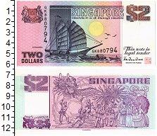 Изображение Банкноты Сингапур 2 доллара 0  UNC