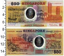 Изображение Банкноты Сингапур 50 долларов 1990 Пластик UNC