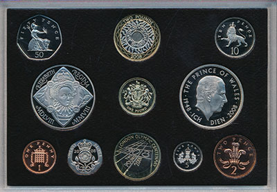 Изображение Подарочные монеты Великобритания Новые гербы 2008 2008  Proof