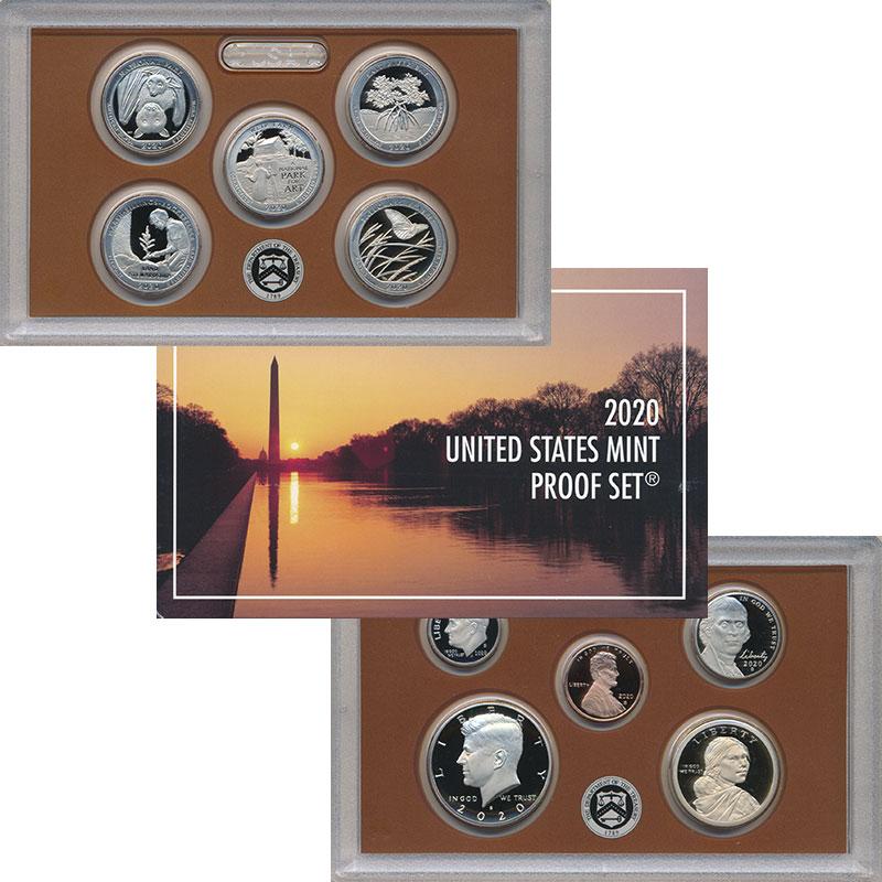 Изображение Подарочные монеты США Набор 2020 года 2020  Proof