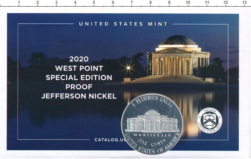 Изображение Подарочные монеты США 5 центов 2020 Медно-никель Proof