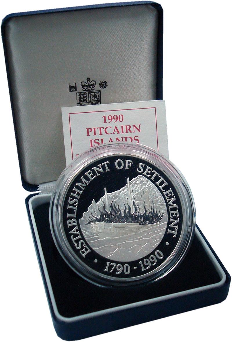 Изображение Подарочные монеты Великобритания Острова Питкэрн 50 долларов 1990 Серебро Proof