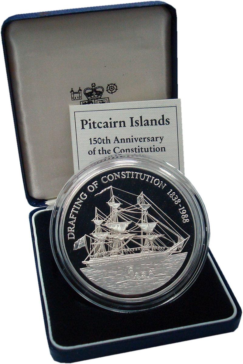 Изображение Подарочные монеты Великобритания Острова Питкэрн 50 долларов 1988 Серебро Proof