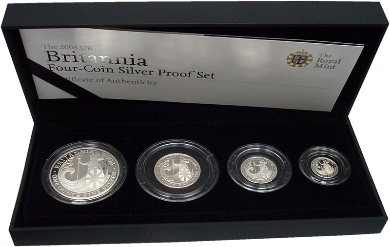 Изображение Подарочные монеты Великобритания Британния 2008 Серебро Proof-
