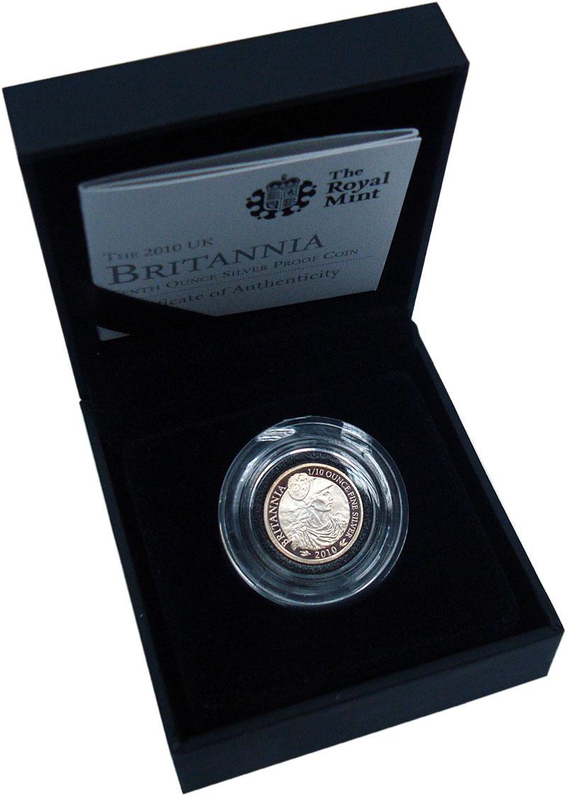Изображение Подарочные монеты Европа Великобритания 20 пенсов 2010 Серебро Proof-