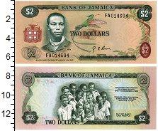 Изображение Банкноты Ямайка 2 доллара 1973  UNC
