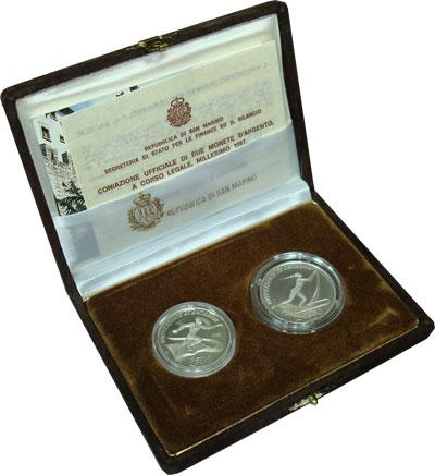 Изображение Подарочные монеты Европа Сан-Марино Студенческие спортивные игры в Загребе 1987 Серебро