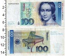 Изображение Банкноты ФРГ 100 марок 1991  XF-