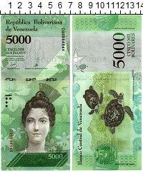 Изображение Банкноты Венесуэла 5000 боливар 2017  UNC