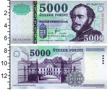 Изображение Банкноты Венгрия 5000 форинтов 2008  UNC