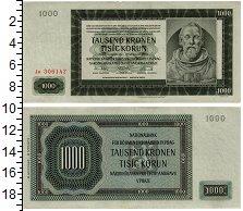 Изображение Банкноты Европа Богемия и Моравия 1000 крон 1942  UNC