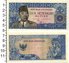 Изображение Банкноты Азия Индонезия 2 1/2 рупии 1964  XF