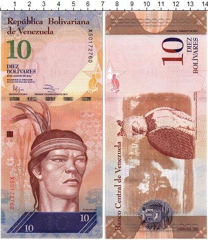 Изображение Банкноты Венесуэла 10 боливар 2014  UNC Гуаикайпуро. Большая