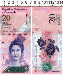 Изображение Банкноты Венесуэла 20 боливар 2014  UNC