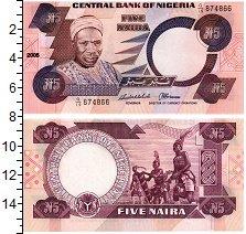 Изображение Банкноты Нигерия 5 найра 2005  UNC
