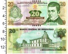 Изображение Банкноты Северная Америка Гондурас 20 лемпир 2016  UNC