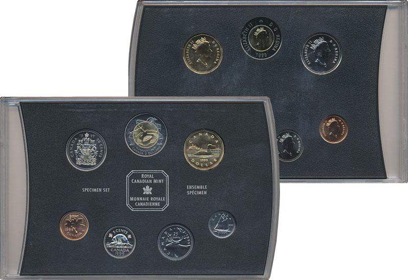 Изображение Подарочные монеты Канада Набор 1999 года 1999  UNC