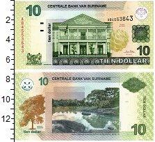 Изображение Банкноты Суринам 10 долларов 2004  UNC