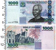 Изображение Банкноты Танзания 1000 шиллингов 0  UNC