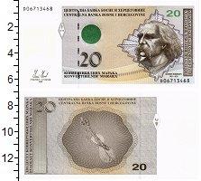 Изображение Банкноты Босния и Герцеговина 20 марок 2008  UNC Портрет Ф.Висьнича.
