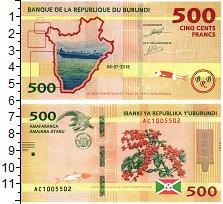 Изображение Банкноты Бурунди 500 франков 2018  UNC